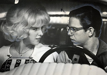 "Candy Clark and Charles Martin Smith in ""American Graffiti'"
