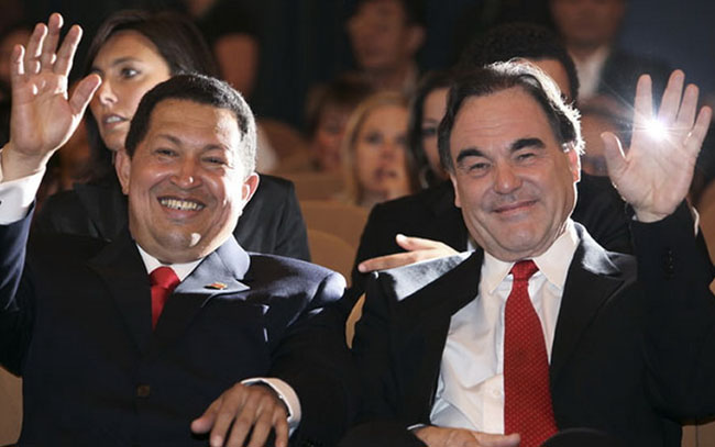Hugo Chávez and Oliver Stone in 'South of the Border'