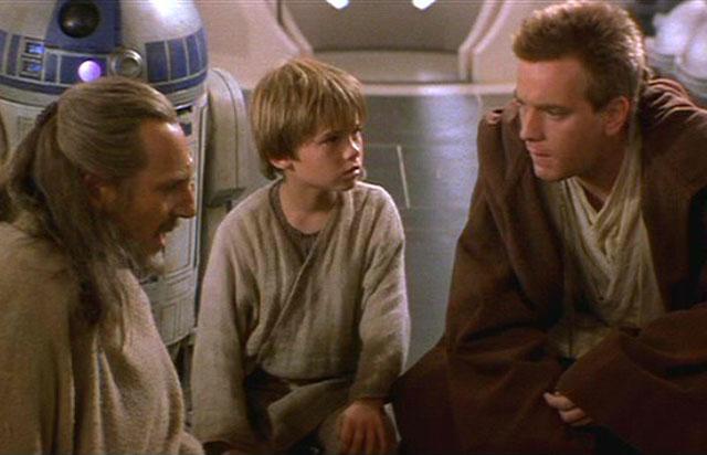 Liam Neeson, Jake Lloyd and Ewan McGregor in 'Star Wars: Episode 1 –The Phantom Menace'