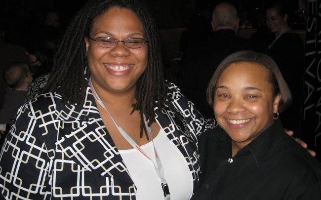 Producer Morgan R. Stiff (left) and Director Tina Mabry, Winners of the Gold Hugo for Best Film at the Chicago International Film Festival Awards Ceremony, October 17, 2009.