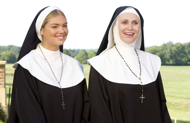 Bad Habit: Swimsuit Model Kate Upton (Sister Bernice) and Jane Lynch (Mother Superior) in 'The Three Stooges'