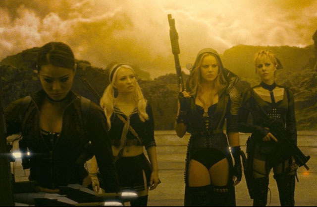 Rave Team: Jamie Chung (Amber), Emily Browning, Abbie Cornish (Sweet Pea) and Jena Malone (Rocket) in 'Sucker Punch'