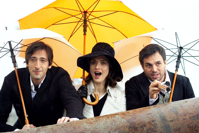 Adrien Brody, Rachel Weisz and Mark Ruffalo of 'The Brothers Bloom'