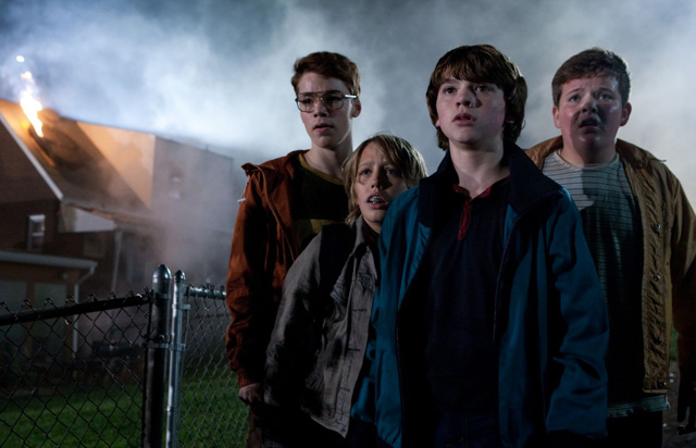 L-R: Martin (Gabriel Basso), Cary (Ryan Lee), Joe (Joel Courtney) and Charles (Riley Griffiths) in 'Super 8'
