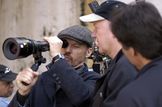First Time Director Michael Keaton with the Crew of 'The Merry Gentleman'