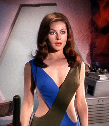 Sherry Jackson Models the Famous Space Wear