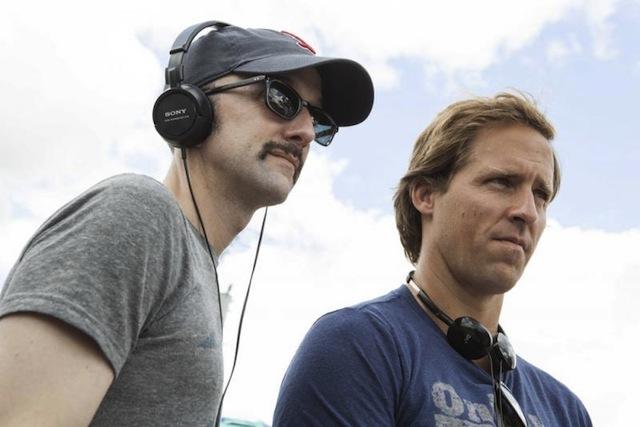 Filmmakers Jim Rash and Nat Faxon on the set of The Way, Way Back.