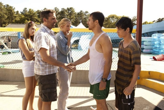 Zoe Levin, Steve Carell, Toni Collette, Sam Rockwell and Liam James star in Jim Rash and Nat Faxon's The Way, Way Back.