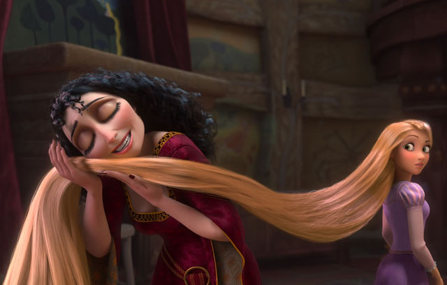 Mother Knows Best: Mother Gothel (Donna Murphy) and Rapunzel (Mandy Moore) in 'Tangled'