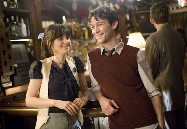 One of 500: Zooey Deschanel and Joseph Gordon-Levitt as Summer and Tom in '(500) Days of Summer'