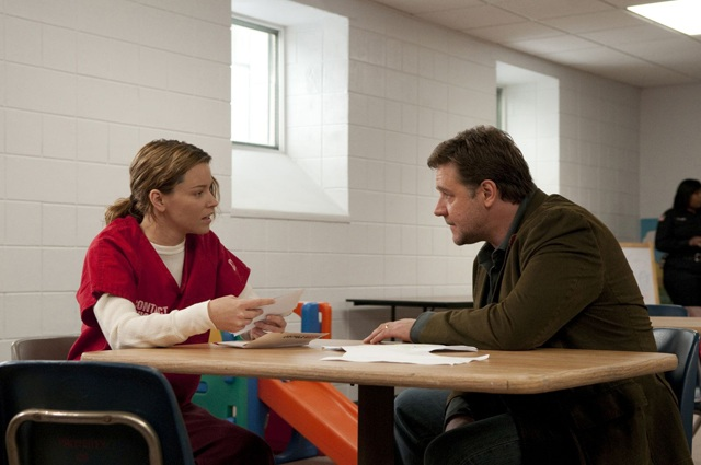 Incarceration: Elizabeth Banks as Lara and Russell Crowe as John in 'The Next Three Days'