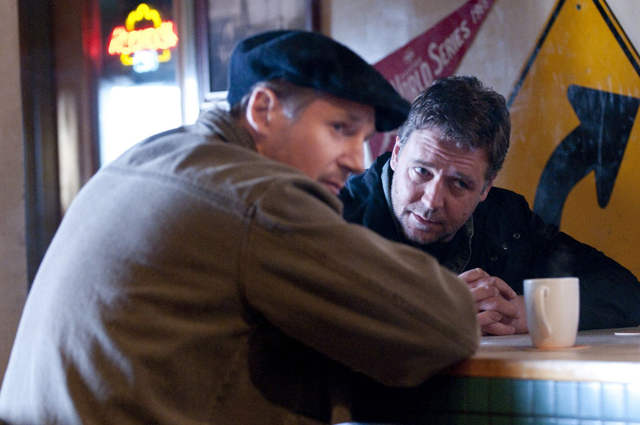 Part of the Plan: Liam Neeson as Damon and Russell Crowe in 'The Next Three Days'