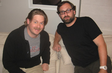 Tim and Eric in Chicago, February 10, 2012'