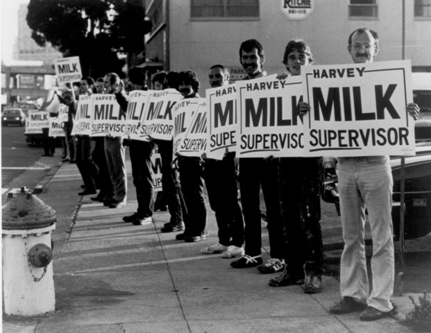 Multitudes of Milk supporters display their enthusiasm in Rob Epstein's exhilarating 1984 documentary The Times of Harvey Milk.