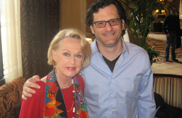 Tippi Hedren and Ben Mankiewicz in Chicago, March 27th, 2012