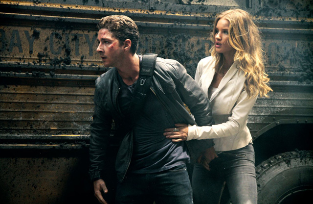 Power Couple: Shia LaBeouf as Sam and Rosie Huntington-Whiteley as Carly in 'Transformers'