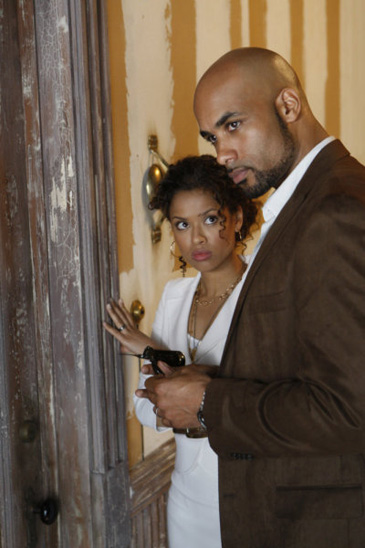 Meet the Blooms: Gugu Mbatha-Raw as Samantha and Boris Kodjoe as Steven in 'Undercovers'