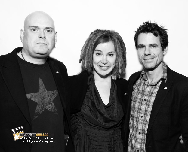 Directors Andy Wachowski, Lana Wachowski and Tom Tykwer at the Chicago premiere of Cloud Atlas.