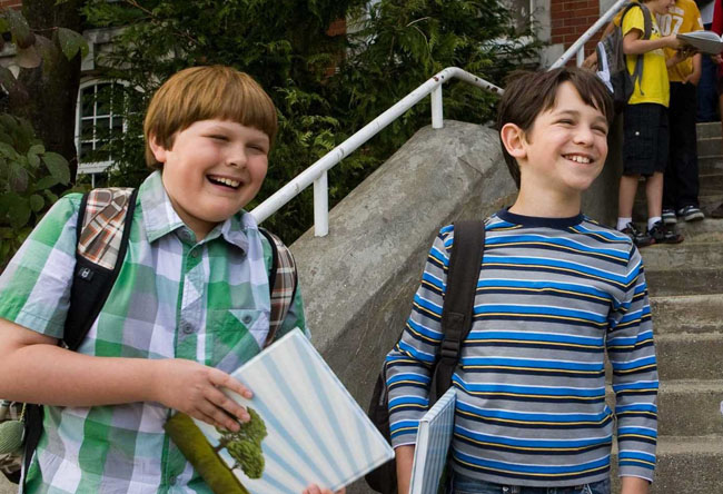 School Days: Robert Capron as Rowley and Zachary Gordon as Greg in 'Diary of a Wimpy Kid'