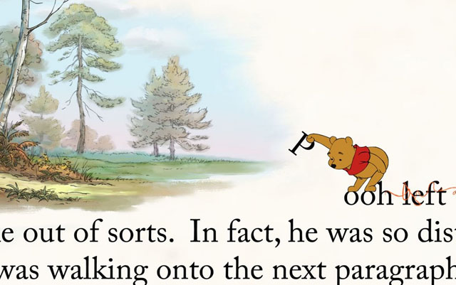 A Page Out of Pooh: The Surreal Storybook Letters in 'Winnie the Pooh'