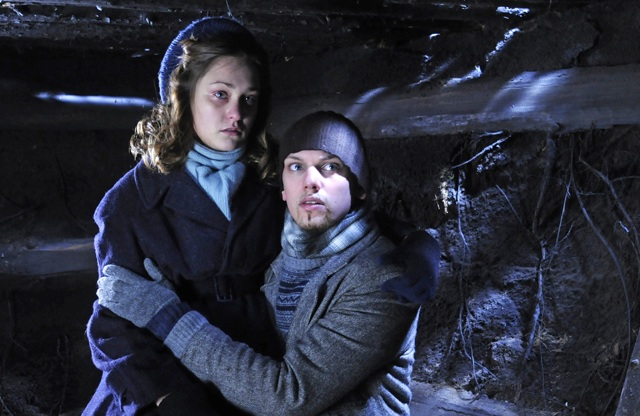 The Lovers: Melody Klaver (Erica) and Jamie Campbell Bower (Jack) in 'Winter in Wartime'