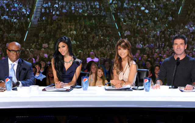 Face the Music: L.A. Reid, Nicole Scherzinger, Paula Abdul and Simon Cowell in 'The X Factor'