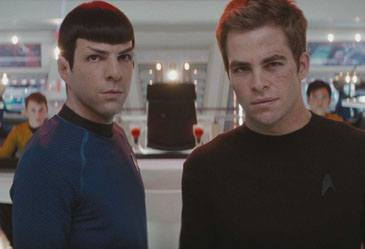 Logical Pair: Zachary Quinto and Chris Pine in 'Star Trek'