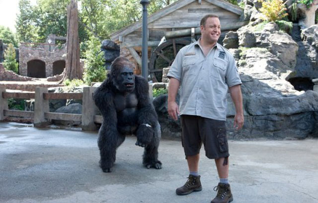 Kevin in Wonderland: Bernie the Gorilla (voice of Nick Nolte) and Griffin (Kevin James) in 'Zookeeper'