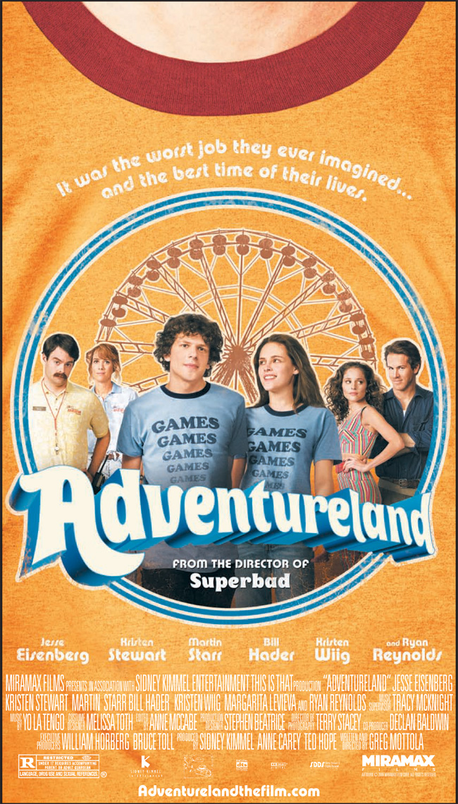 The poster for Adventureland from the director of Superbad