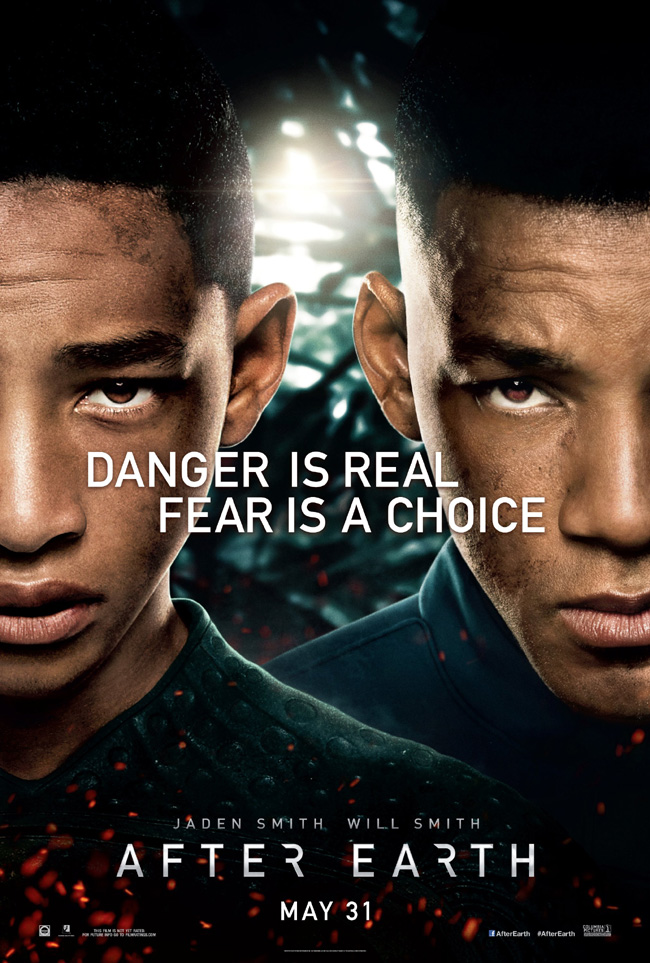The movie poster for After Earth starring Will Smith and Jaden Smith