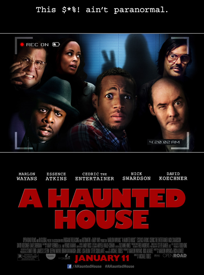 The movie poster for A Haunted House from Marlon Wayans
