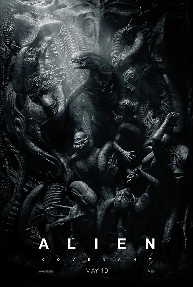 The movie poster for Alien: Covenant starring Michael Fassbender from Ridley Scott