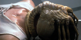 The facehugger creature in Alien reminds us of Bane's mask