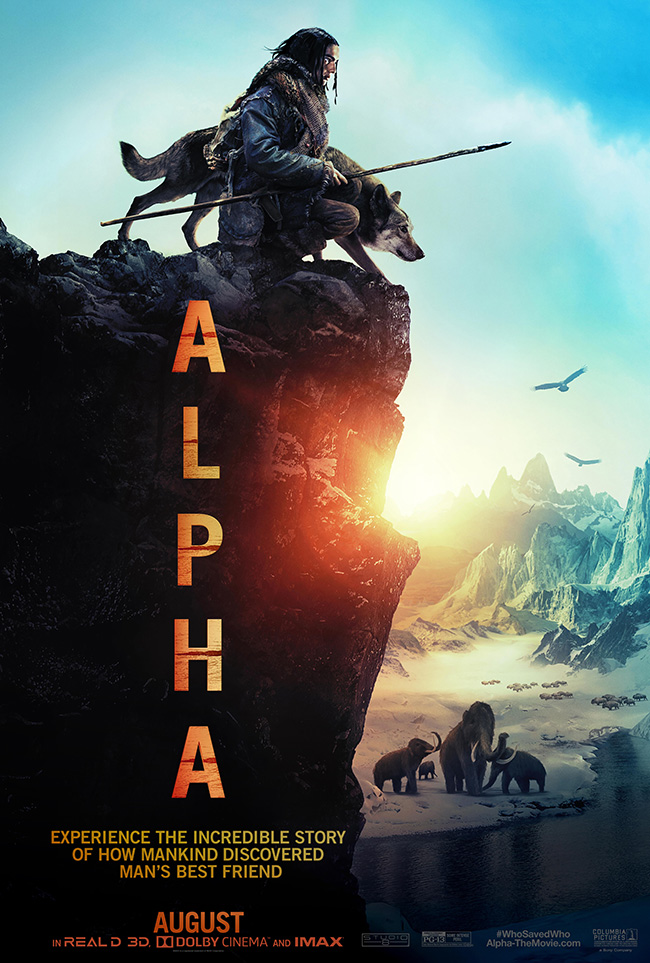 The movie poster for Alpha starring Kodi Smit-McPhee