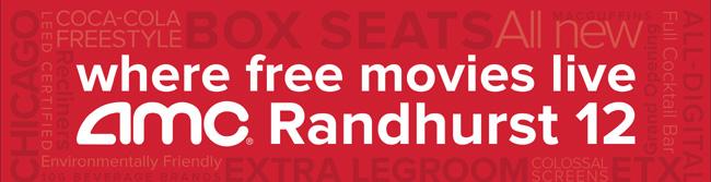 Free movies, snacks and drinks at AMC Randhurst 12