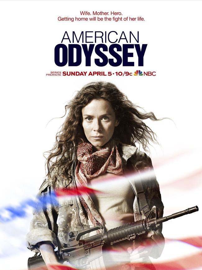 The movie poster for American Odyssey starring Anna Friel and Peter Facinelli