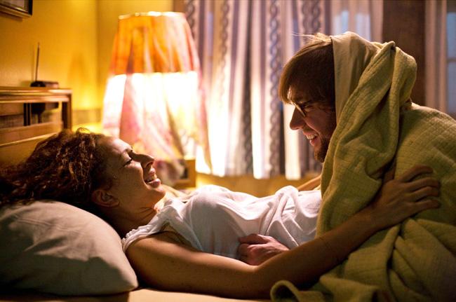 Maya Rudolph (left) stars as Verona and John Krasinski (right) stars as Burt in Sam Mendes' Away We Go