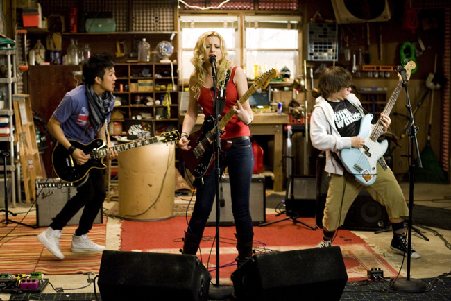 Left to right: Tim Jo, Alyson Michalka and Charlie Saxton star in Bandslam