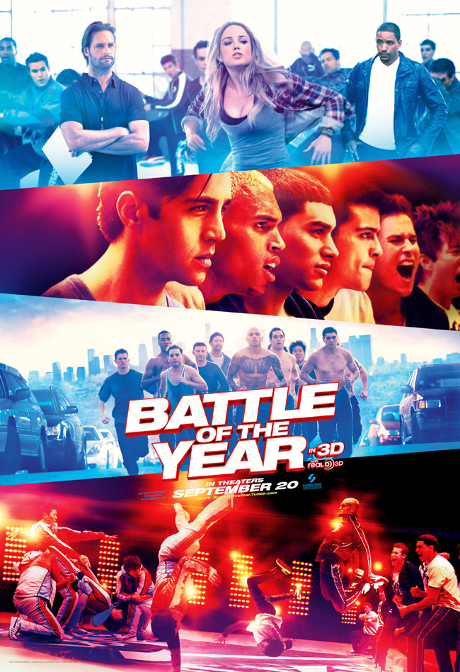 The movie poster for Battle of the Year starring Chris Brown and Josh Holloway