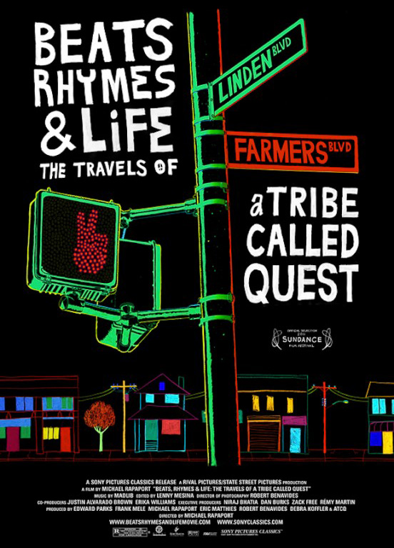 The movie poster for Beats Rhymes and Life: The Travels of a Tribe Called Quest