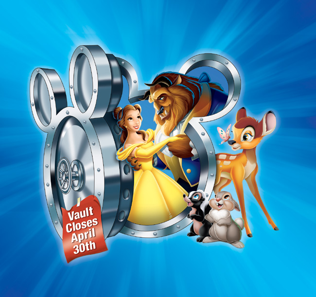 Classic Disney titles including Bambi and Beauty and the Beast will only be available through April 30, 2012 from Disney