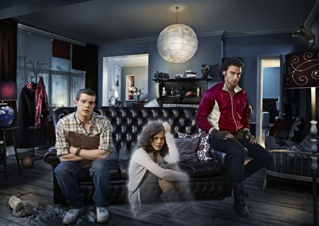Being Human - (l to r) George (Russell Tovey), Annie (Lenora Crichlow) and Mitchell (Aidan Turner).