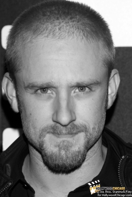 Ben Foster on the red carpet for the Chicago International Film Festival premiere of The Messenger.