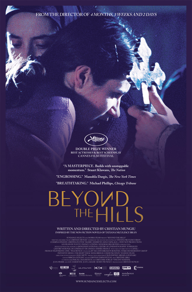 The movie poster for the double Cannes winner Beyond the Hills