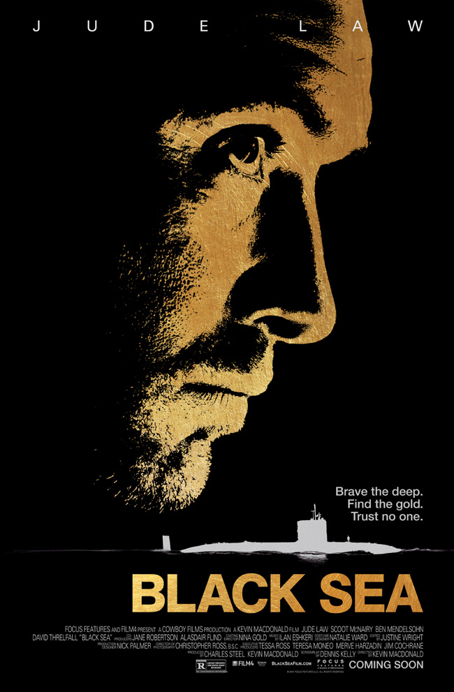 The movie poster for Black Sea starring Jude Law