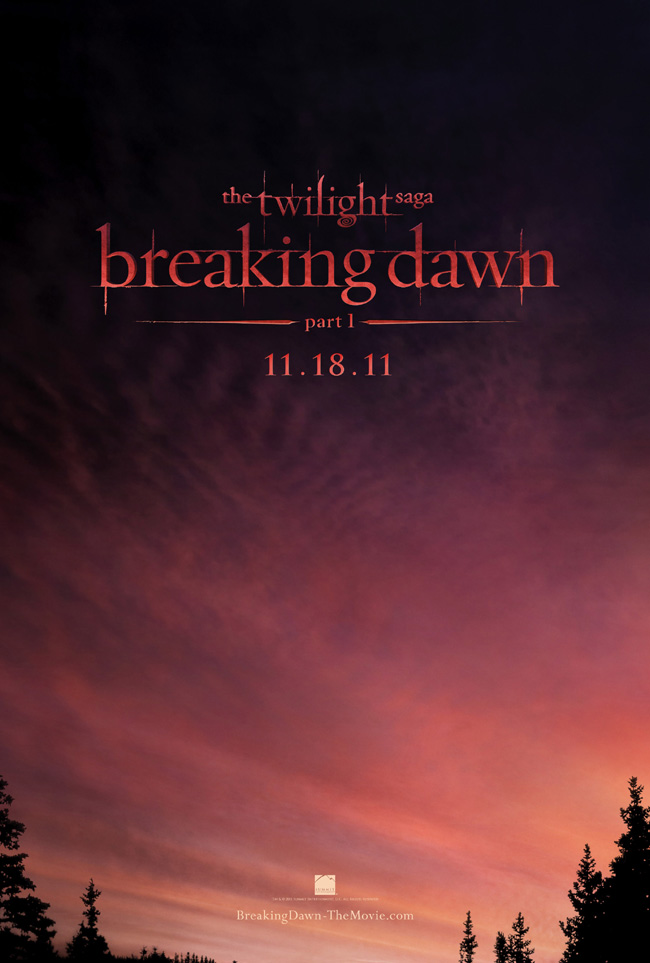 The first official teaser poster for The Twilight Saga: Breaking Dawn - Part 1 was released on May 25, 2011