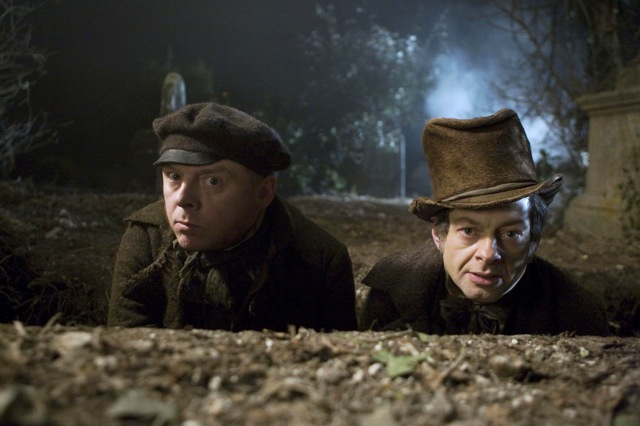 Simon Pegg and Andy Serkis star in John Landis's Burke and Hare.