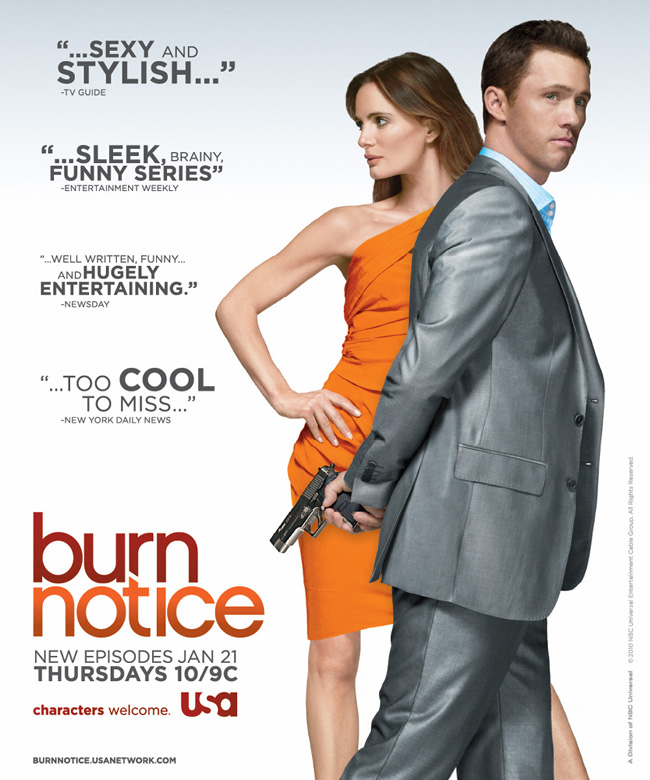 free burn notice tv swag free tv swag for usa network 39 s burn notice. Black Bedroom Furniture Sets. Home Design Ideas