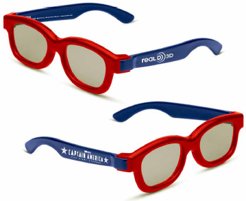 Win a collector's custom Captain America: The First Avenger RealD 3D movie glasses