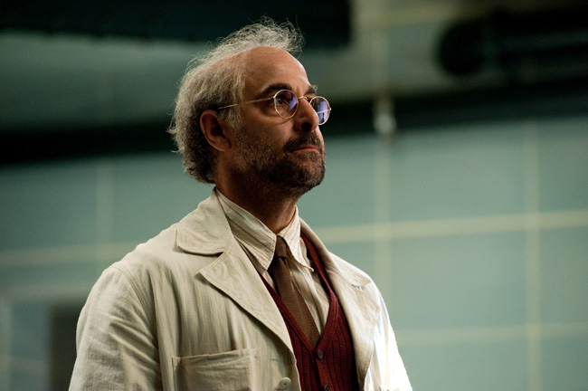 Stanley Tucci as Dr. Abraham Erskine in Captain America: The First Avenger